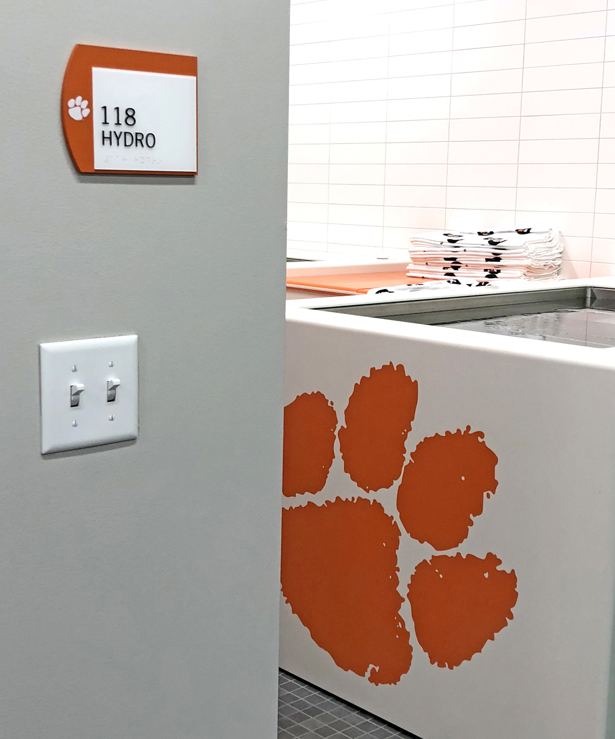 There was lots of signage love given by Guerrilla Graphix for the new indoor tennis facility at Clemson University.