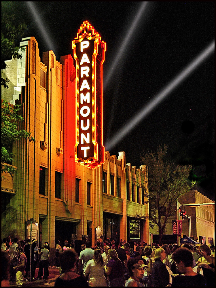 Center City of Amarillo Inc. restored the Paramount Theatre's marquee sign on Polk Street in Amarillo, TX. Photo by Ralph Duke.