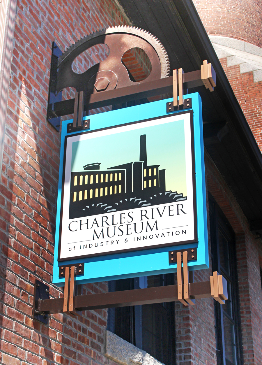 Metro Sign and Awning also took third place with this hanging sign for the Charles River Museum