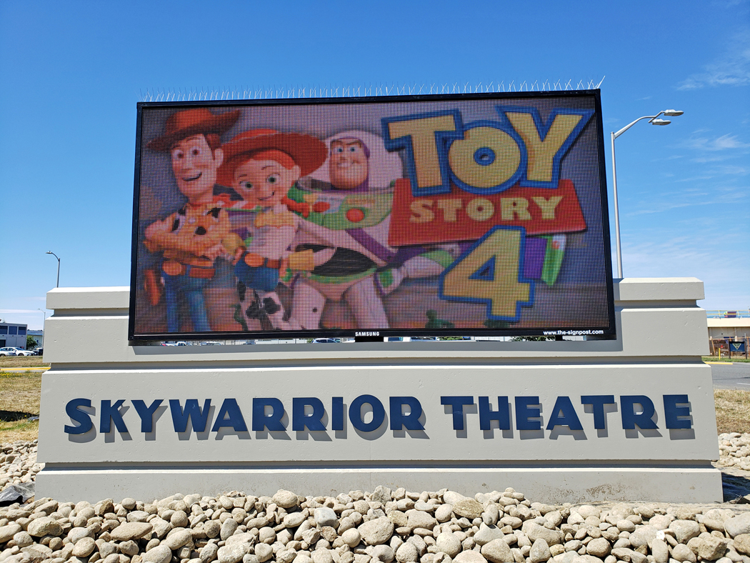 The Sign Post was tasked with designing, fabricating and installing the Skywarrior Theatre monument sign for Washington state's Naval Air Station Whidbey Island, which included a lot of literal military precision.