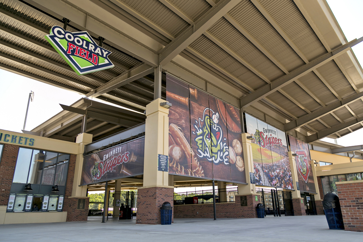 The Gwinnett Stripers increased fan engagement with Custom Sign Factory's signage for Coolray Field.