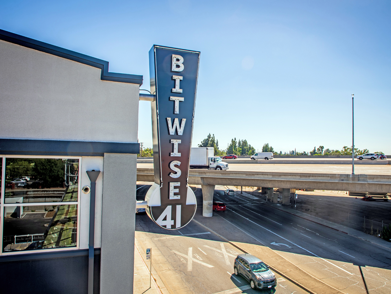 A-Plus Signs (Fresno, CA) fabricated two outdoor neon signs for Bitwise 41.