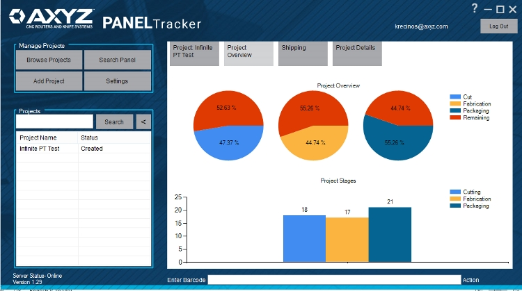 AXYZ Automation Group Releases PANELTracker Management System for CNC Routers