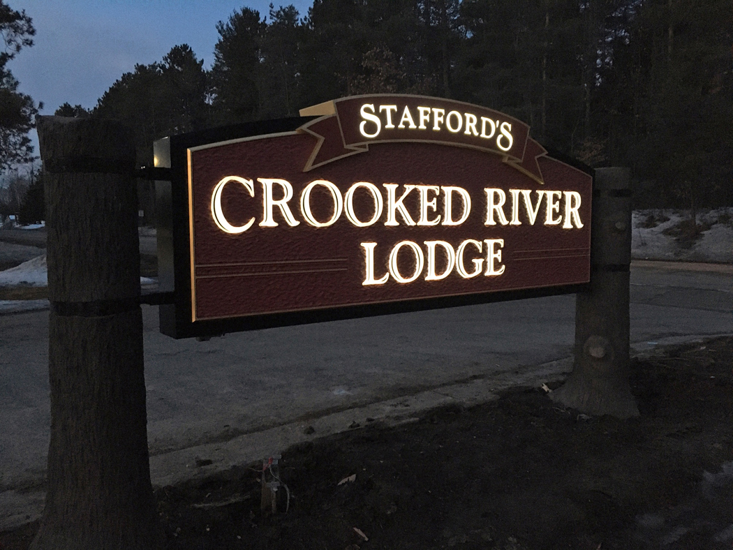This sign for Staffords Hospitality was design and fabricated by Pro Image Design.