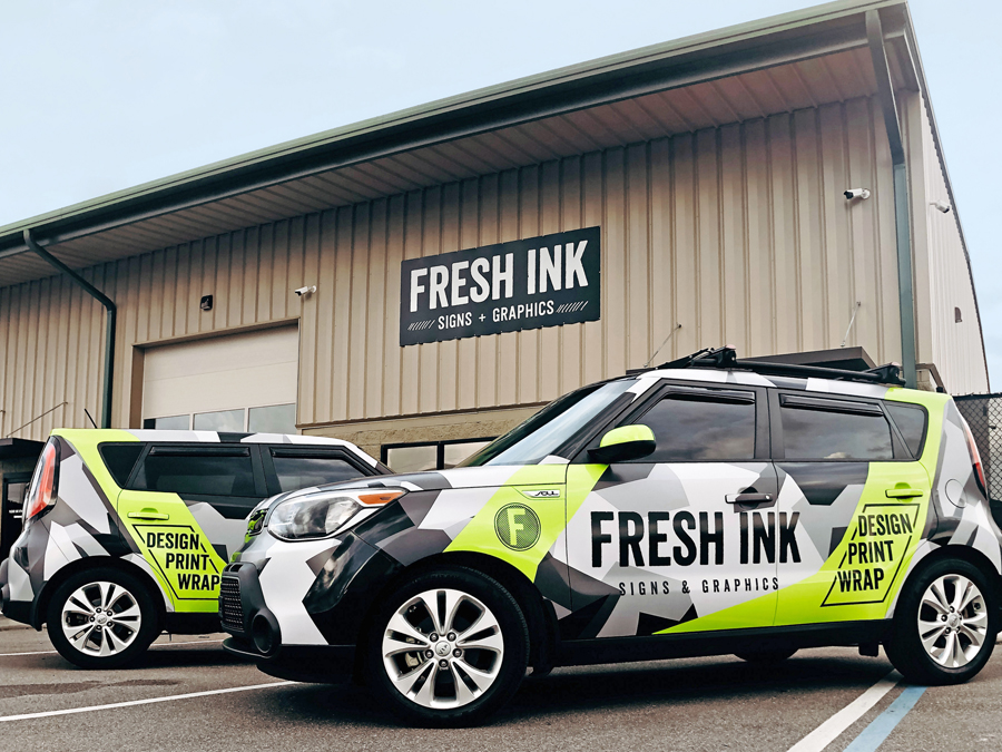 Fresh Ink's three facets are designing, printing and wrapping.