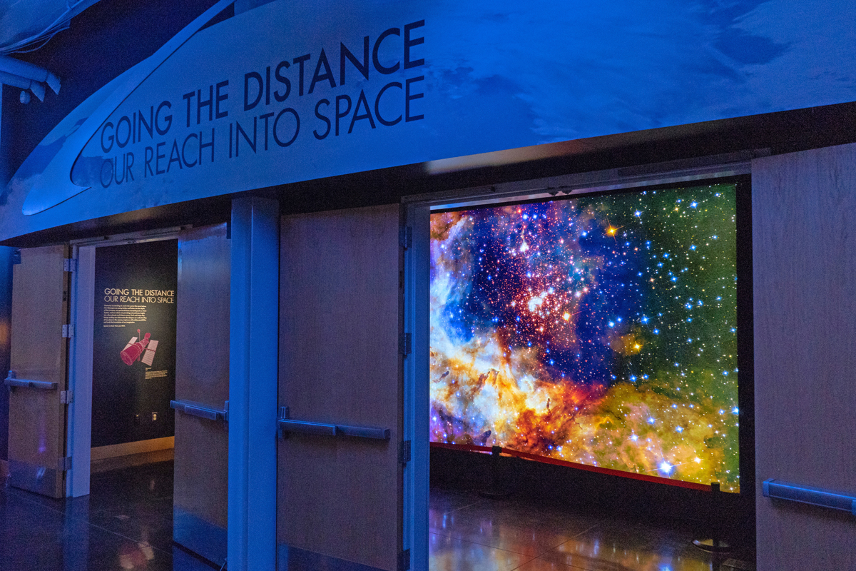 40 Visuals produced this display for the Chabot Space & Science Center.