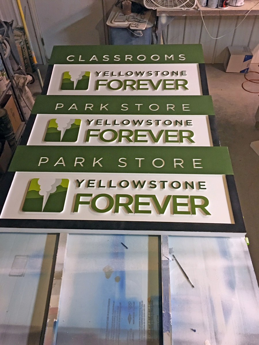 Beartooth Signs also fabricated numerous other signs, keeping the design elements consistent.