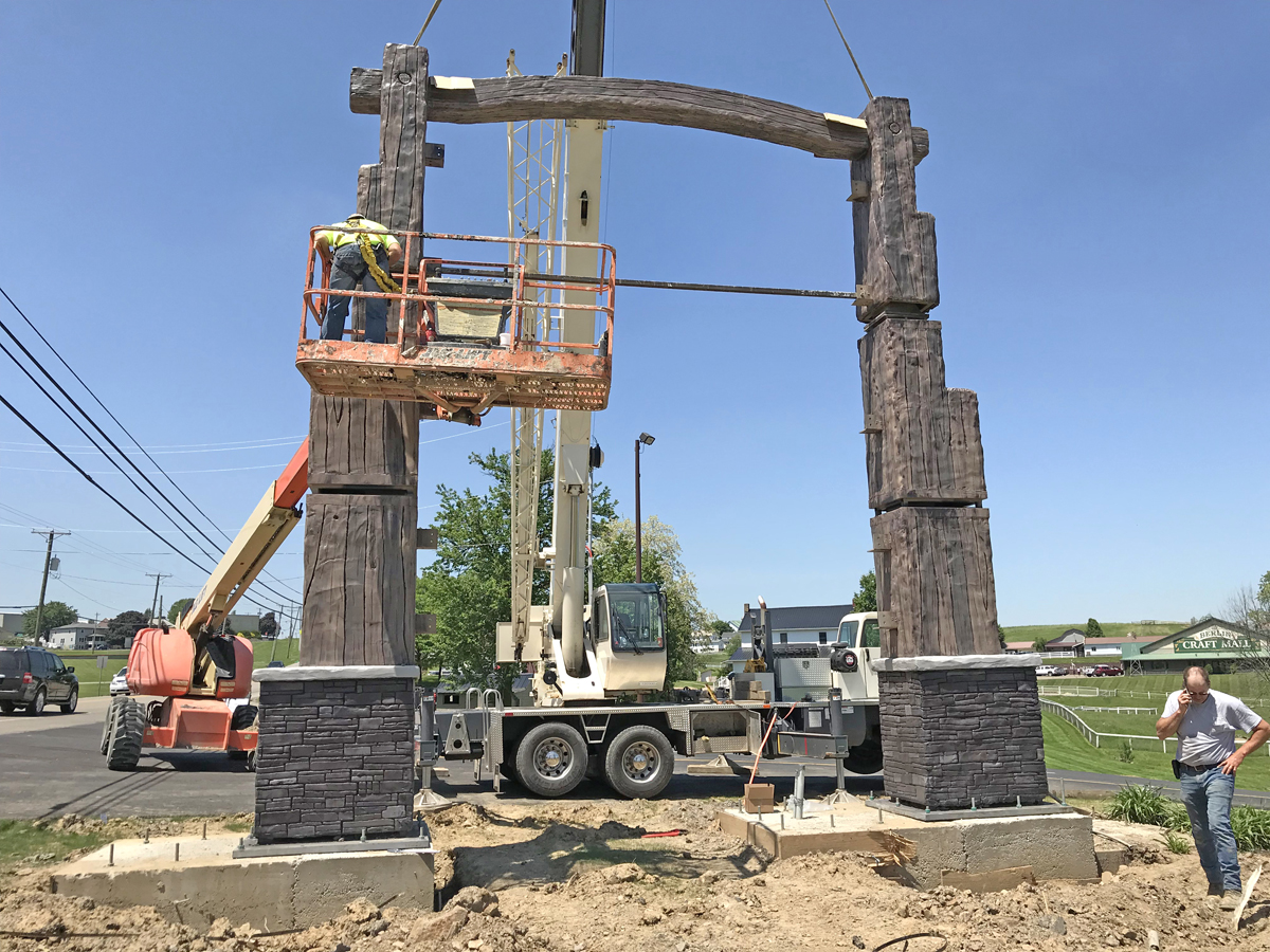 Tensions eased once all three heavy pieces were lifted and set safely in place.