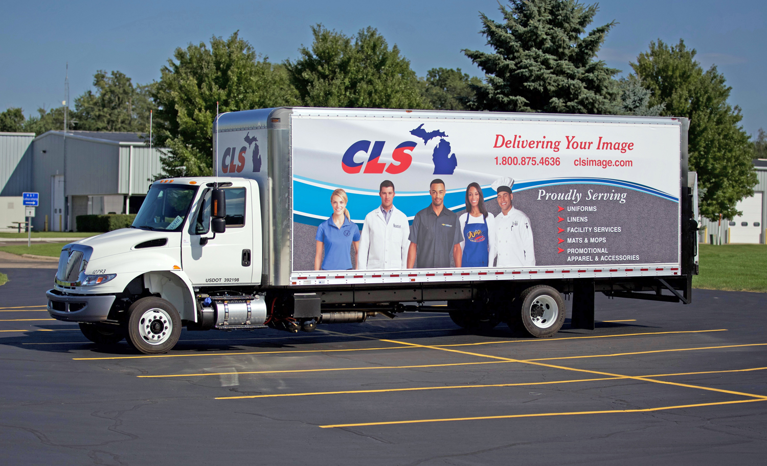 Agio Imaging (Kalamazoo, MI) utilized Tensioning Solutions' TS23 Stretch Frame system on this truck graphic.
