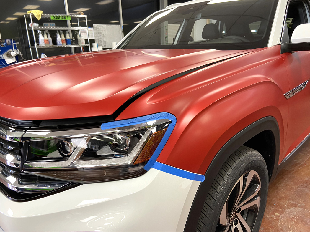 Chicago Wrap used new techniques while wrapping these brand-new Volkswagen Atlas Cross Sports.